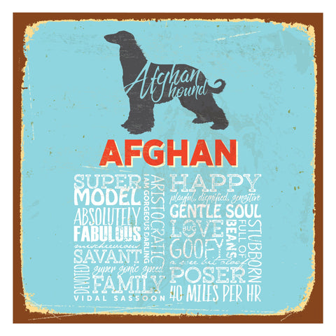 Afghan Hound (Typedography®)