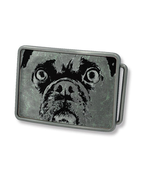 Pug Belt Buckle (Grey)