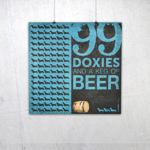 99 Doxies and a Keg of Beer (Blue)