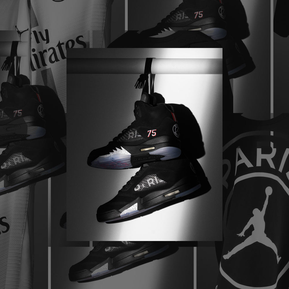 ac8b44c599 The New Air Jordan 5 : Jordan Brand X Paris Saint-Germain (PSG)