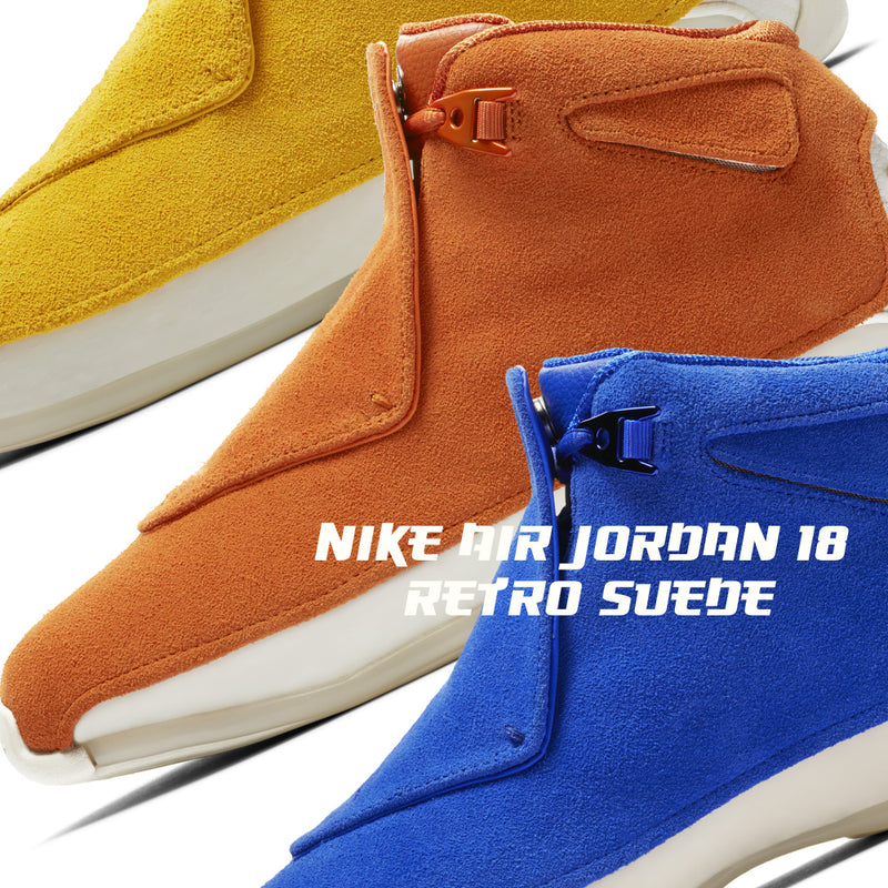 Nike Air Jordan 18 Retro Suede Pack