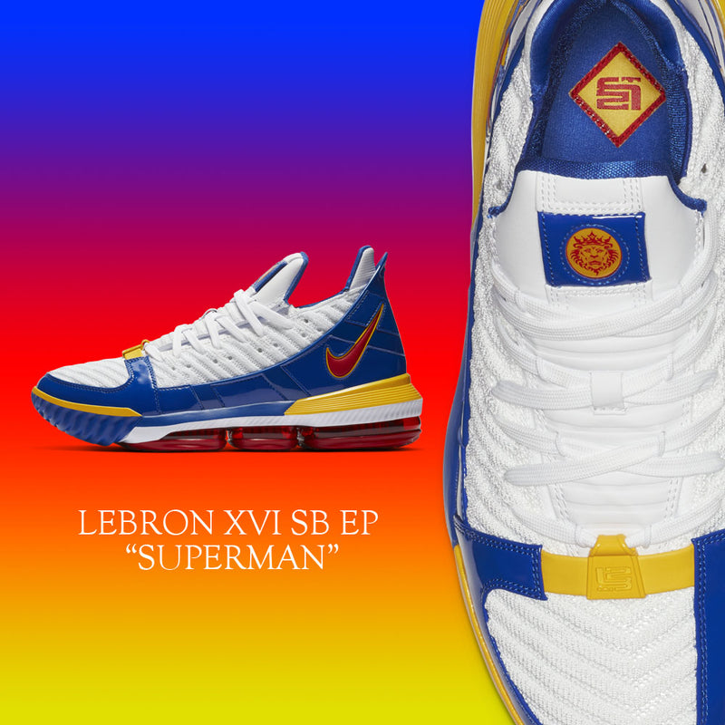 buy online df0f6 5ea74 New Arrival   Nike LeBron 16 XVI SB EP Superman
