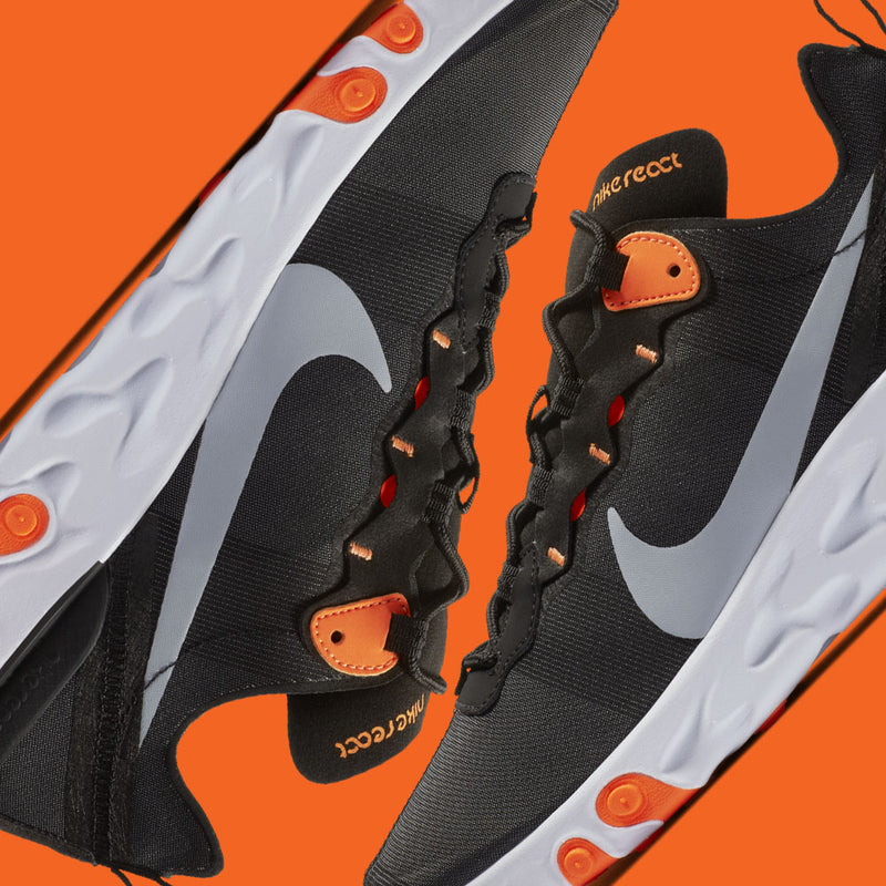 Nike React Element 55 Black Orange (BQ6166-006)