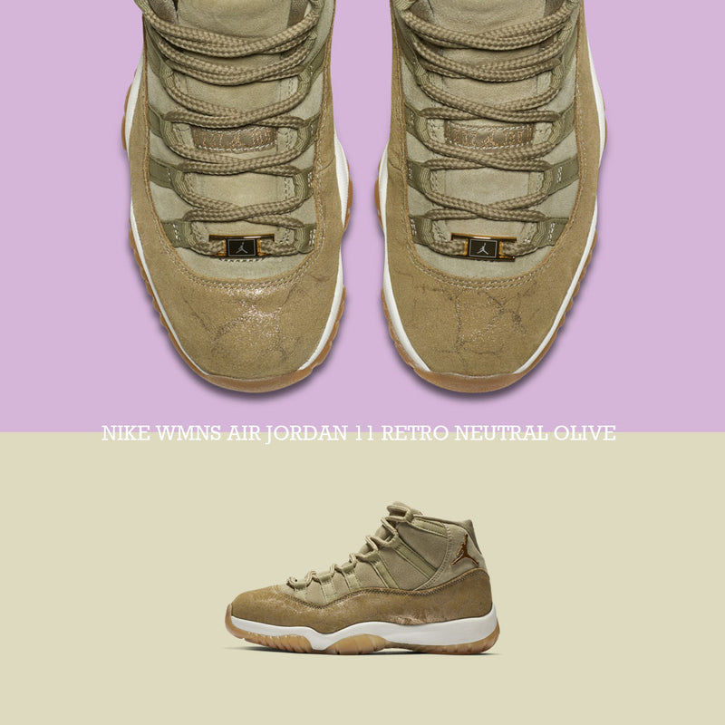 News : Nike Wmns Air Jordan 11 Retro Neutral Olive (AR0715-200)