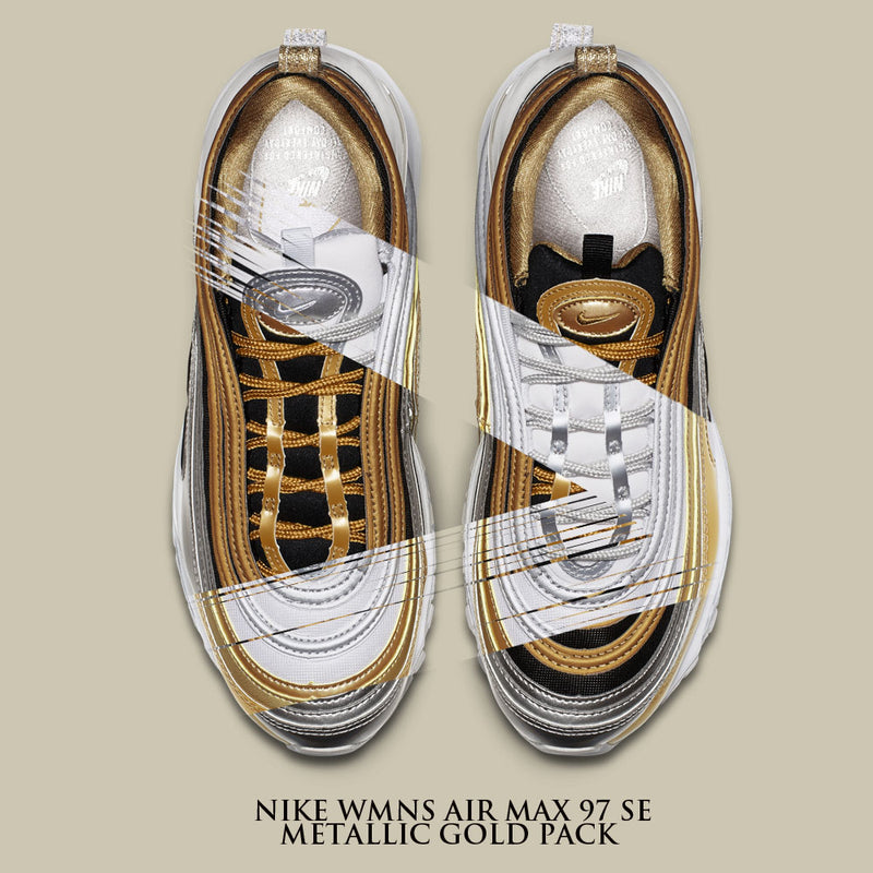 5f920c7a2ca New Arrival   Nike Wmns Air Max 97 SE Metallic Gold Pack