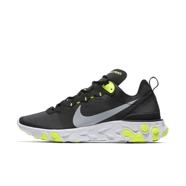 Nike React Element 55 BLACK VOLT (BQ6166-001)