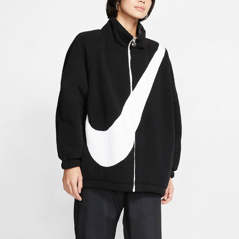 Nike Wmns NSW Swoosh Reversible Jacket Black White (CZ4064-010)