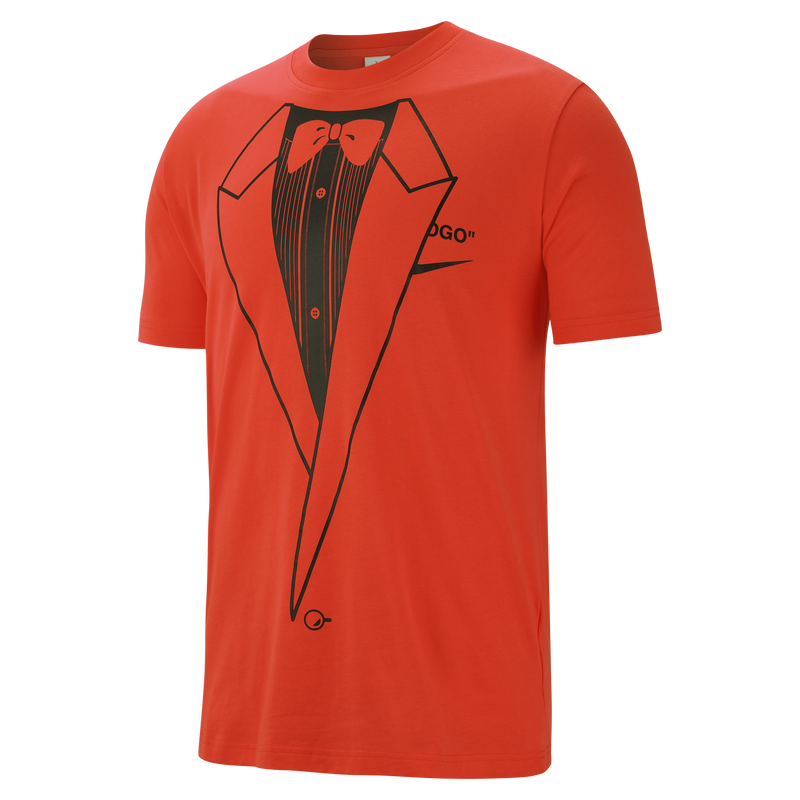 NikeLab x Off White NRG A6 Tuxedo T-Shirt Orange (BQ0827-891)
