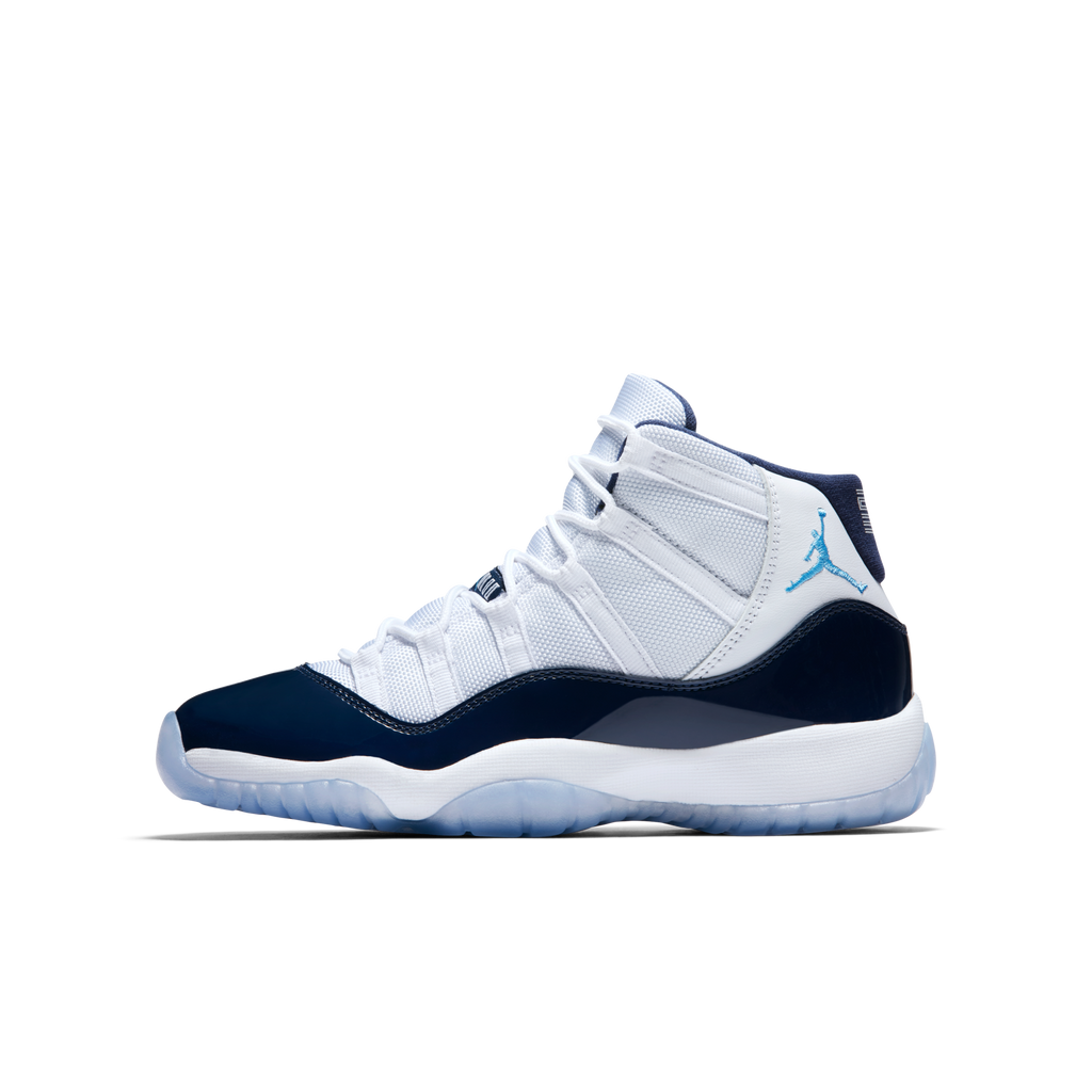 Nike Air Jordan 11 Retro (GS) Win Like 82 White Navy (378038-123)