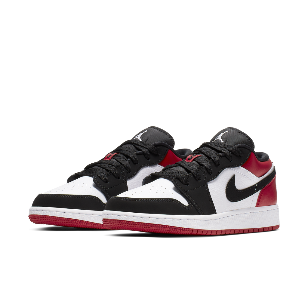 Nike Air Jordan 1 Low (GS) Black Toe (553560-116)