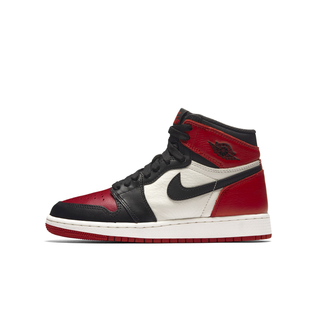 Nike Air Jordan 1 Retro High OG (BG) Bred Toe (575441-610)
