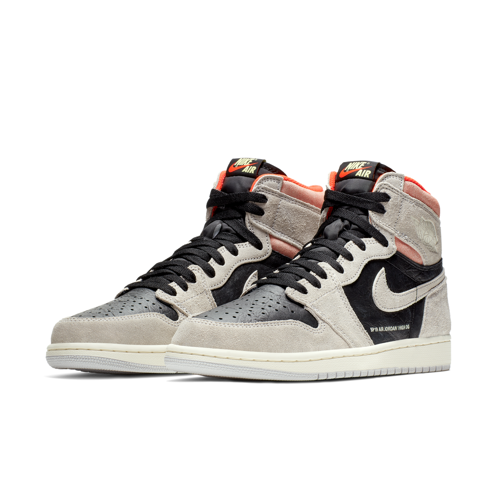 Nike Air Jordan 1 Retro High OG Grey Crimson (555088-018)