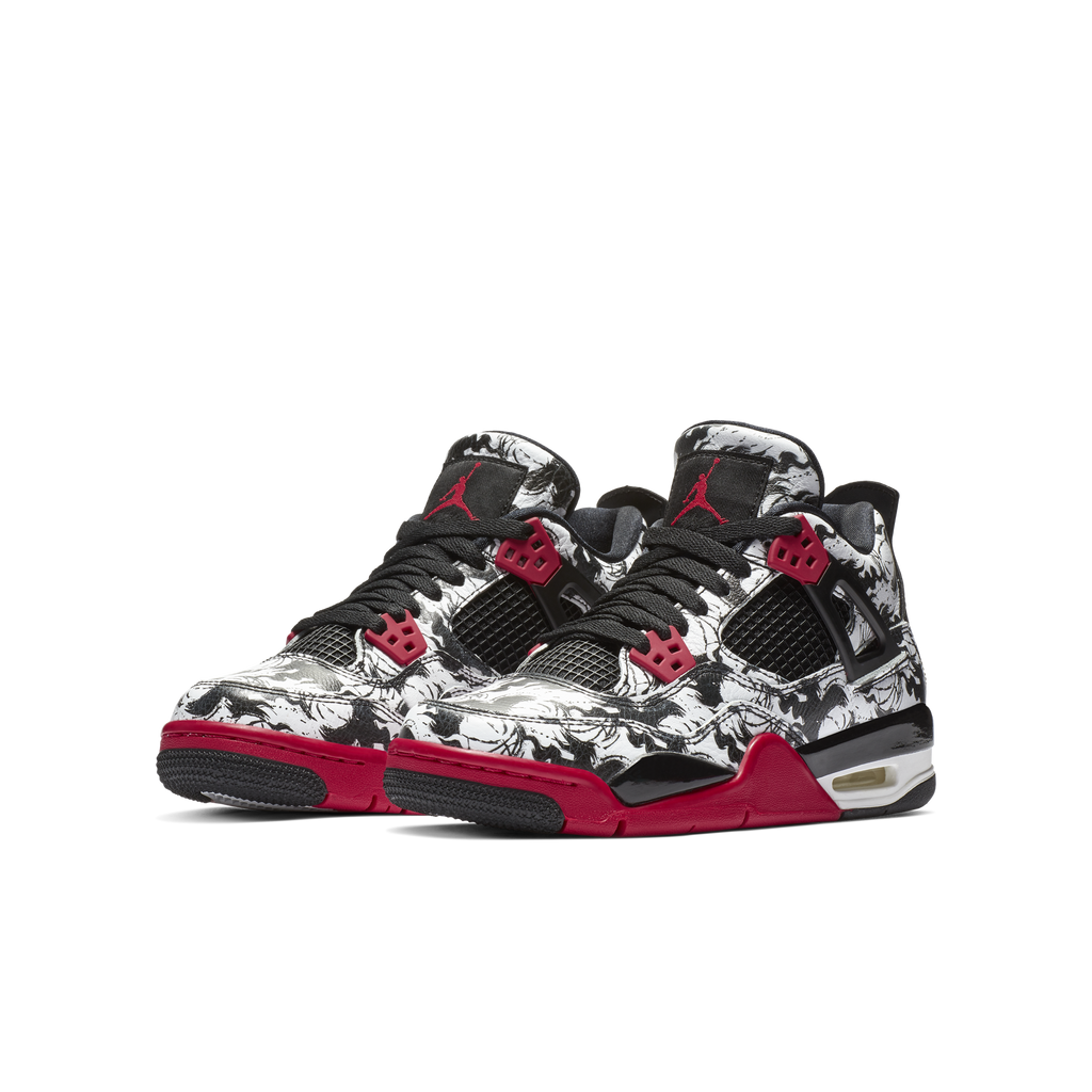 detailed images look good shoes sale newest Nike Air Jordan 4 Retro (GS) Singles Day Tattoo (BV7451-006)