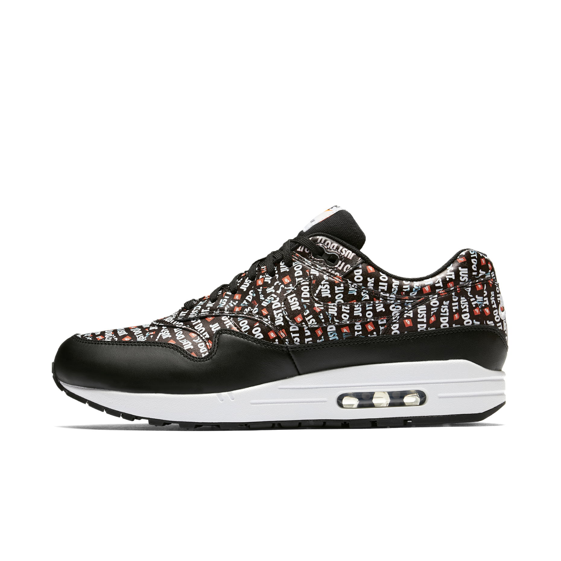3bce18894e7 Nike_Air_Max_1_PRM_Just_Do_It_Black_White_Orange_875844-009_1.png?v=1535026431