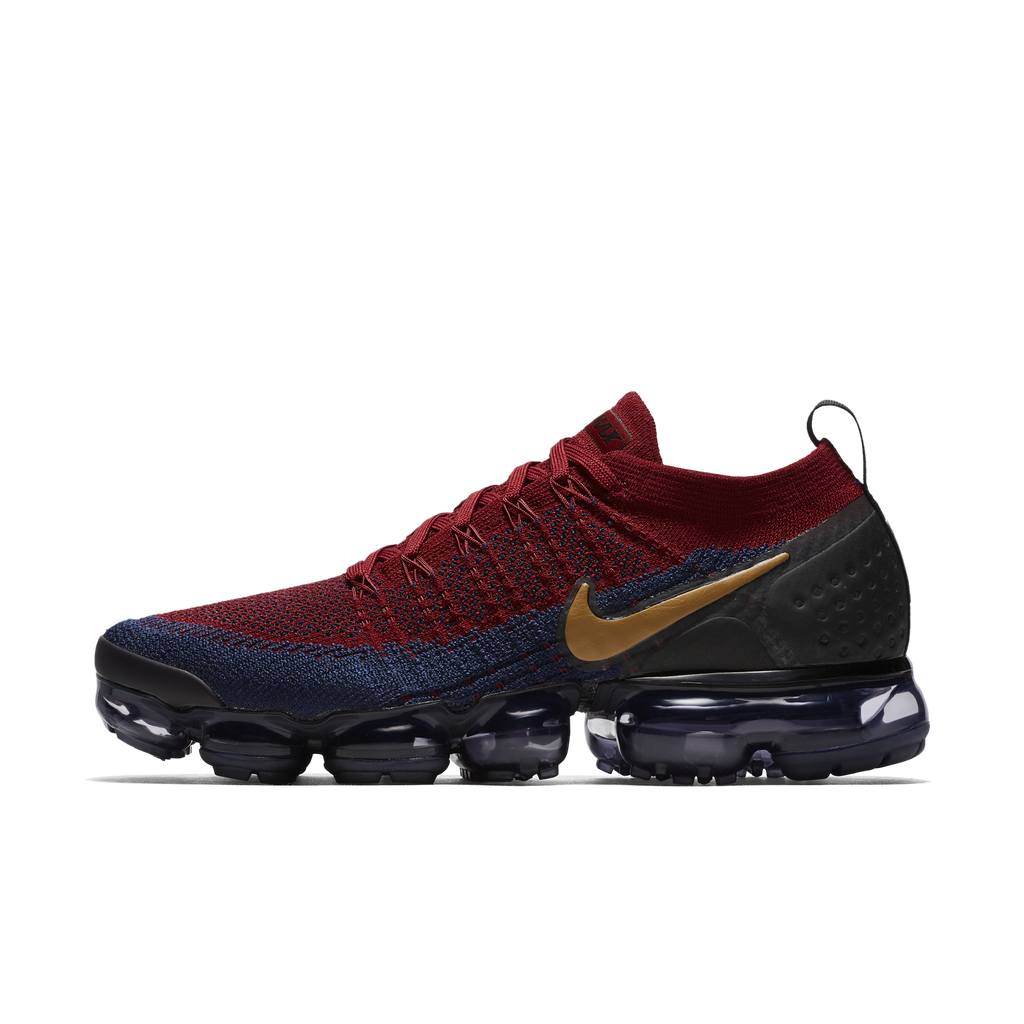 Nike Air VaporMax Flyknit 2 Team Red Wheat Obsidian (942842-604)