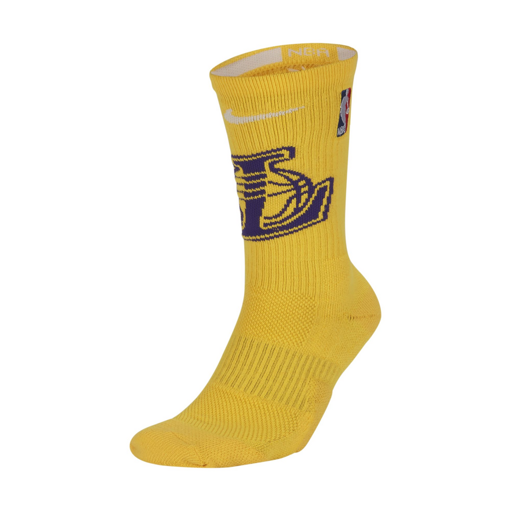 Nike Elite NBA Crew Socks Los Angeles Lakers (SX7603-728) - RMKSTORE