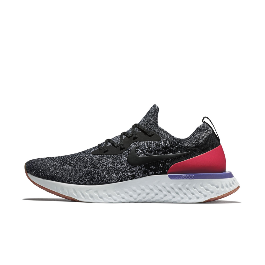 Nike Epic React Flyknit Black Grey Red (AQ0067-006) - RMKSTORE