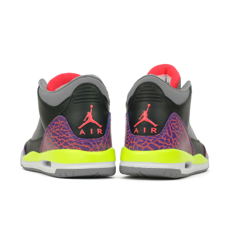 huge discount 8021e 55532 Nike Girls Air Jordan 3 III Retro (GS) Black Volt (441140-039)