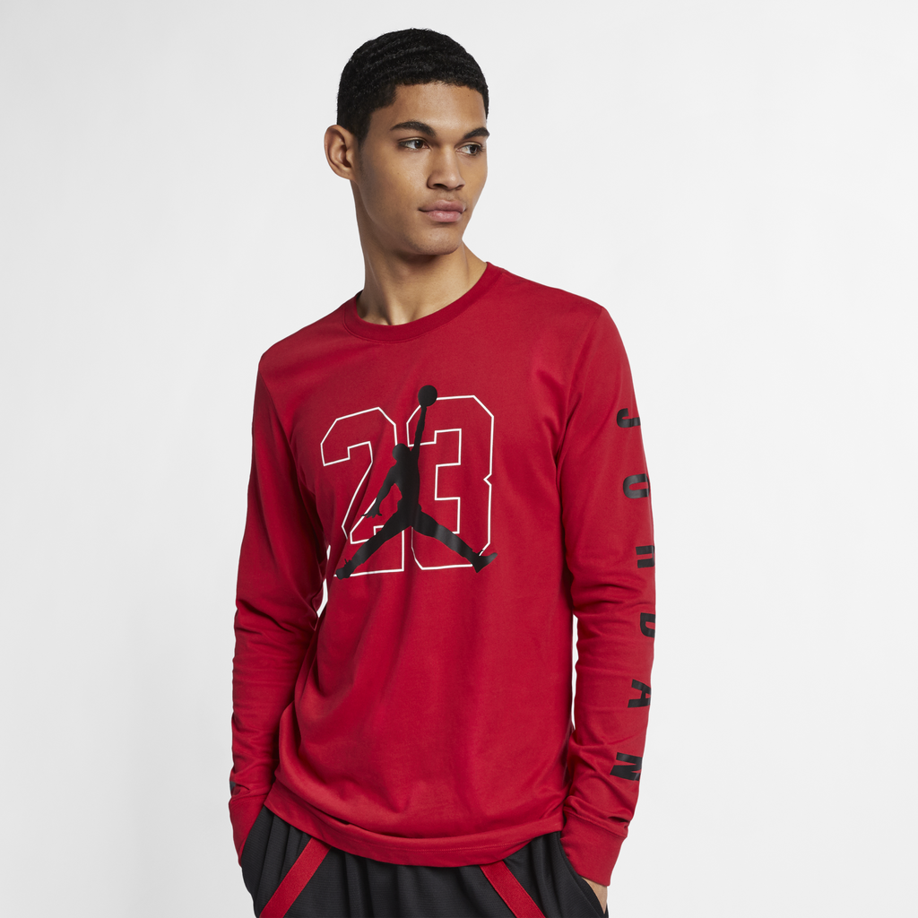 Nike Jordan Graphic Long-Sleeve Basketball T-Shirt Red (AQ3702-687)