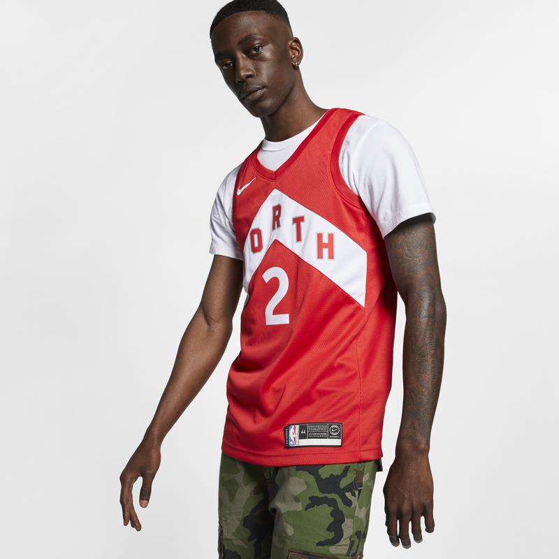 Nike NBA Kawhi Leonard (Toronto Raptors) Earned City Edition Swingman Connected Jersey Red (BQ1177-659)