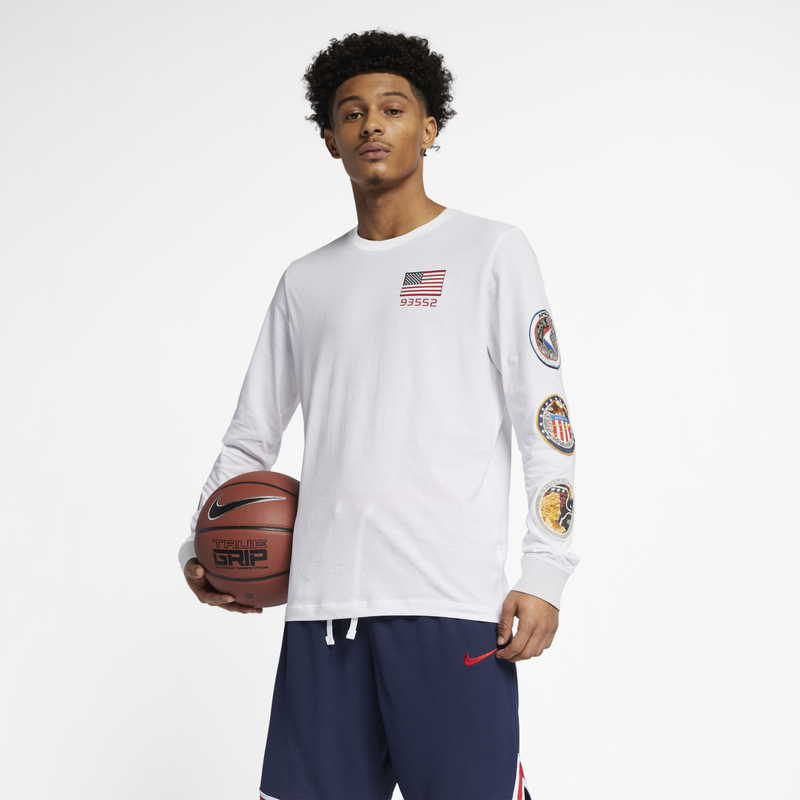 Nike PG NASA Long-Sleeve T-shirt White (BQ7535-100)