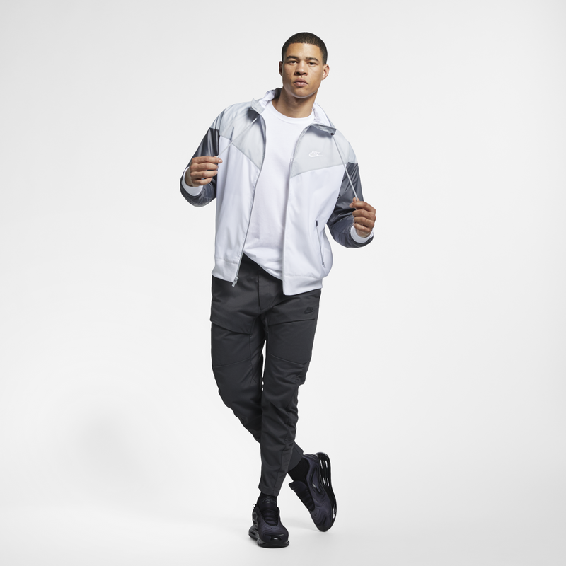 Nike Sportswear Windrunner Hooded Jacket White Grey (AR2192-100)