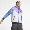 Nike Sportswear Windrunner Hooded Jacket White Purple (AR2192-101)