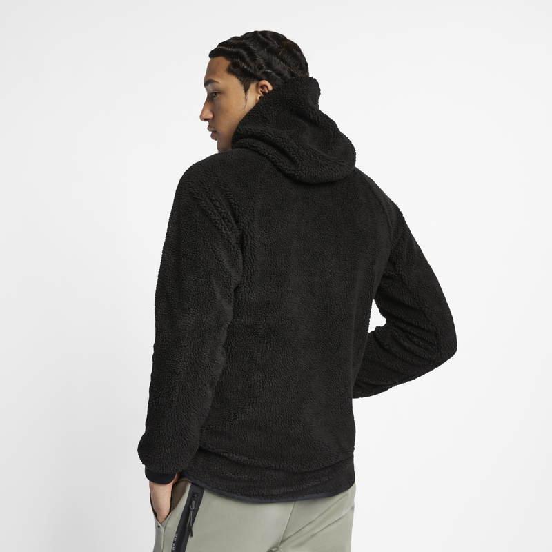 Nike Sportswear Windrunner Tech Fleece Sherpa Hoodie Black (AQ2768-010)
