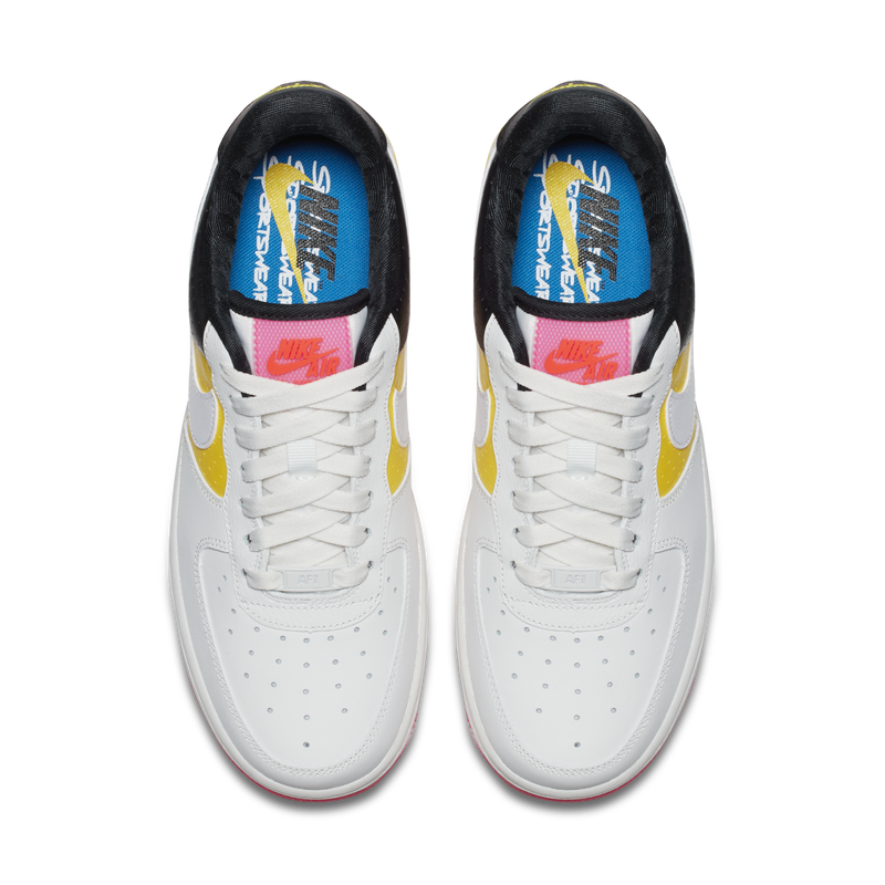 2acdf555b8f Nike Wmns Air Force 1 07 Low SE Moto White Tour Yellow (AT2583-100)