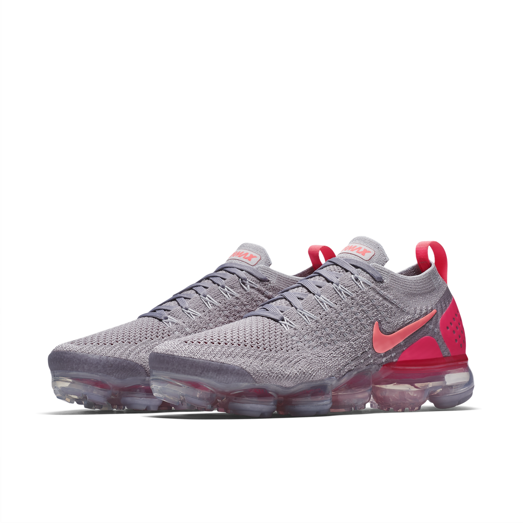 Nike Wmns Air VaporMax Flyknit 2 Atmosphere Grey Total Crimson (942843-005)