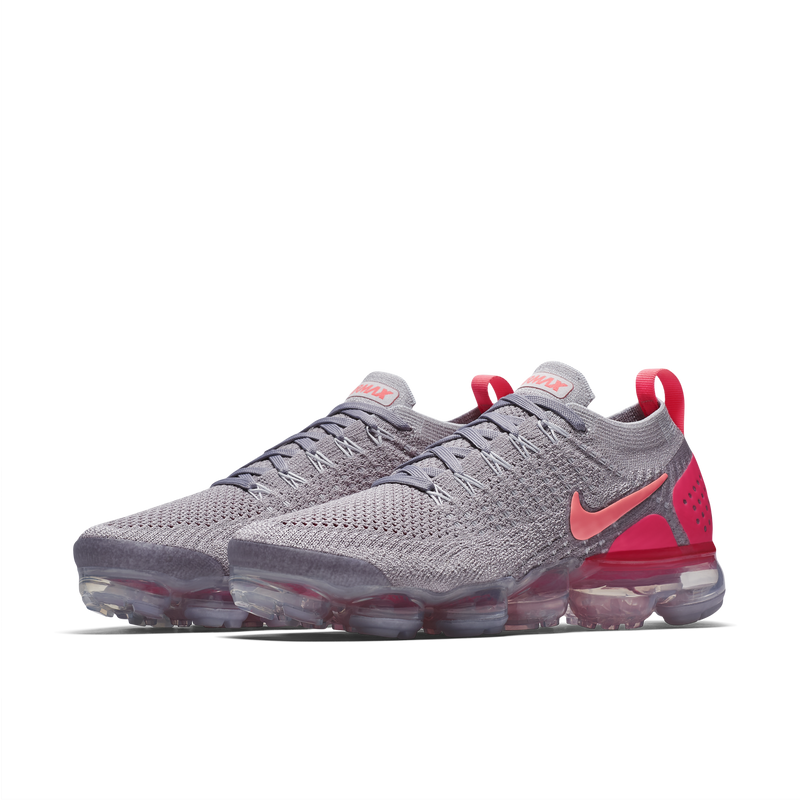 Nike Wmns Air VaporMax Flyknit 2 Atmosphere Grey Total Crimson (942843-005) - RMKSTORE