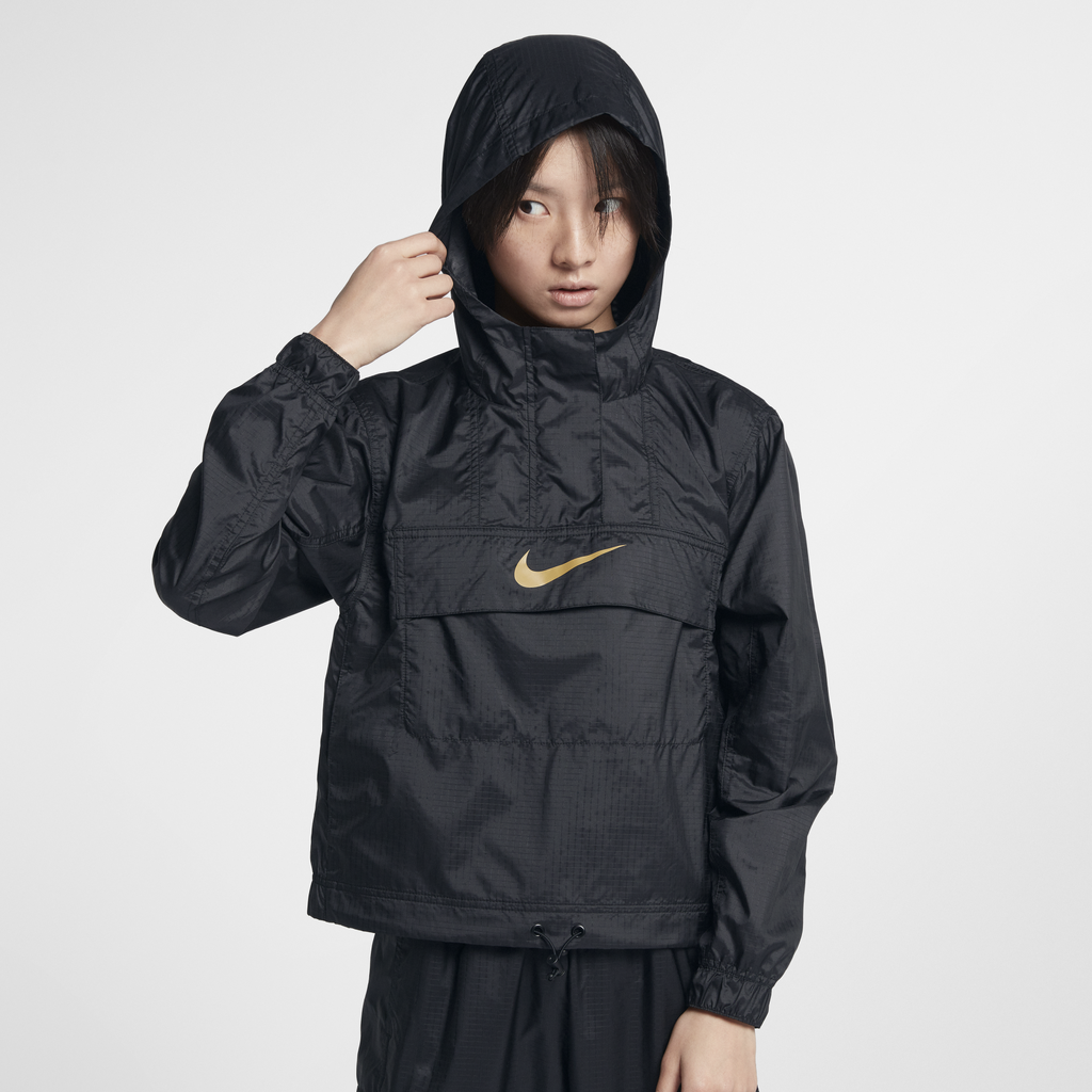 Nike Wmns Sportswear Animal Print Windbreaker Black (AR3176-010)