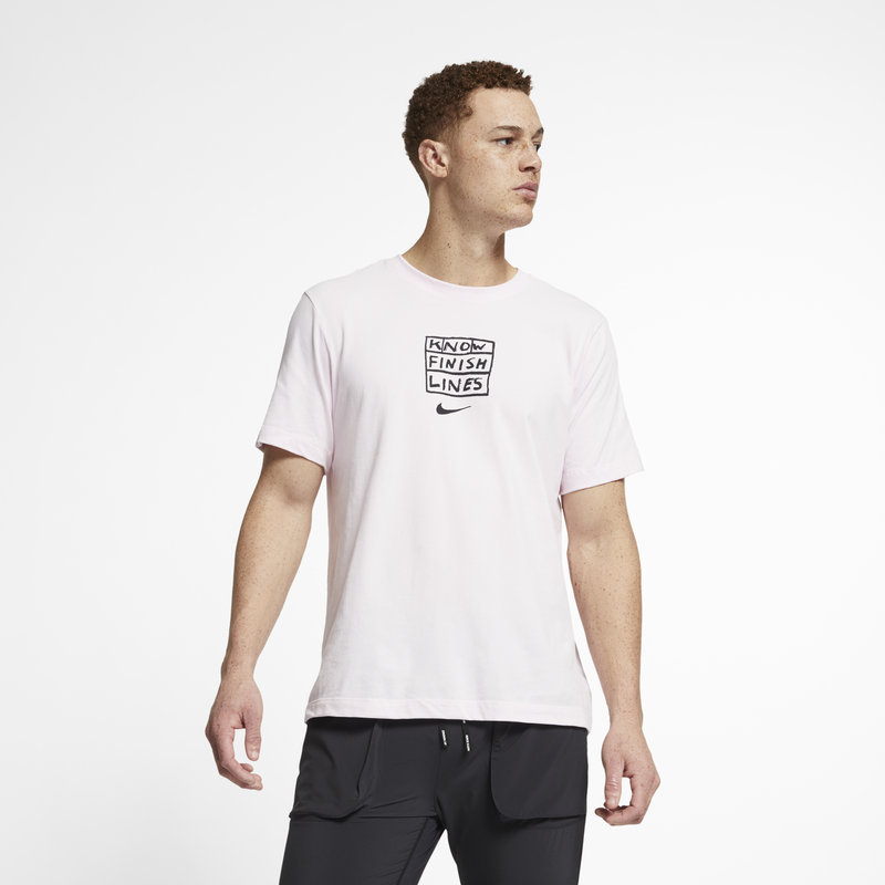 Nike x Nathan Bell Dri-FIT Men's Running T-Shirt Pink (AO0630-663)