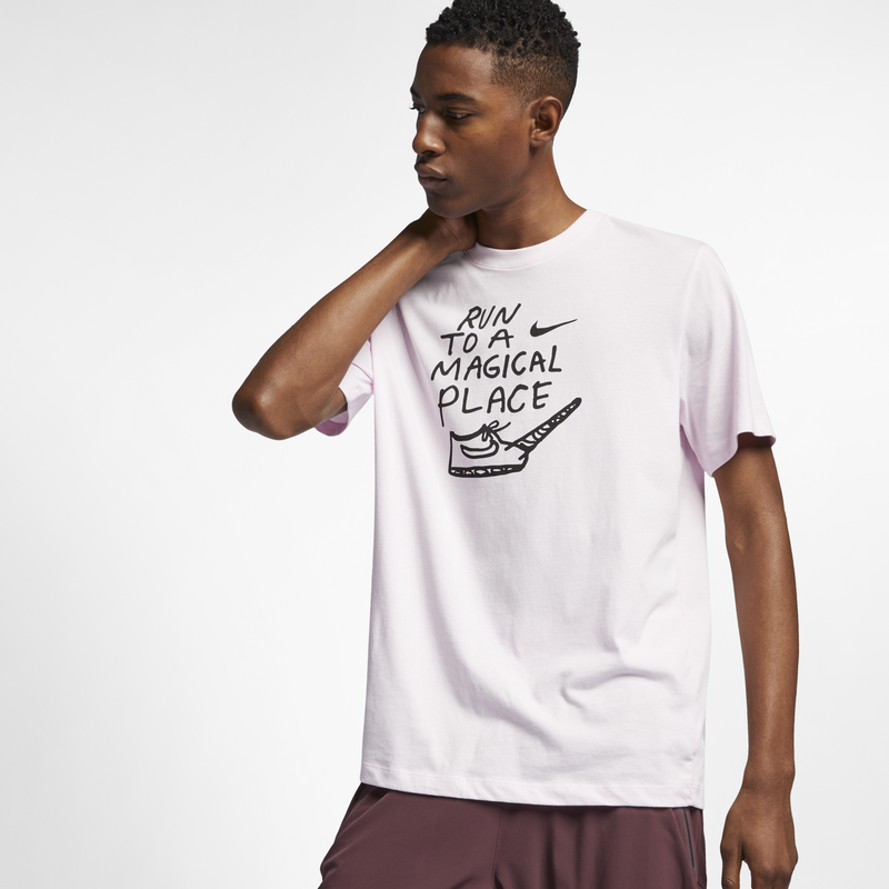 Nike x Nathan Bell Dri-FIT Men's Running T-Shirt Pink (AO0651-663)