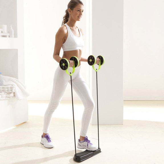 Image result for 2018 New Abdominal Trainer Ab Roller Wheel Abdominal Trainer Arm Waist Leg Exercise Multi-functional Fitness Equipment Exercise