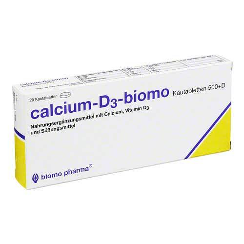 Calcium D3 Biomo Chewable 500 + D 20 pcs
