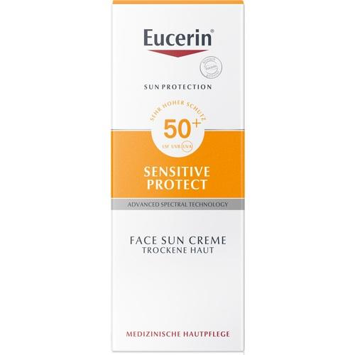 Eucerin Sun Cream Sensitive Protect SPF 50+ 50 ml is a Sunscreen for Face