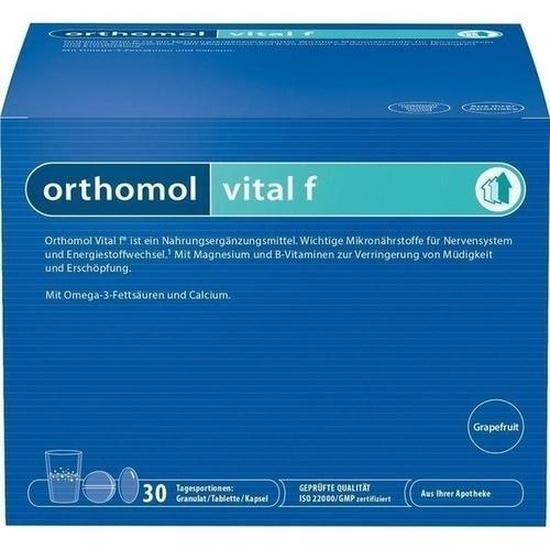 old design - Orthomol Vital F Granules/Tab/Cap Grapefruit - Women Supplement 30 days is a Supplements