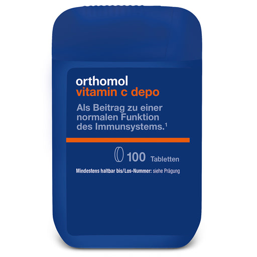 New packaging design - Orthomol Vitamin C Depo 100 cap is a nutritional supplement