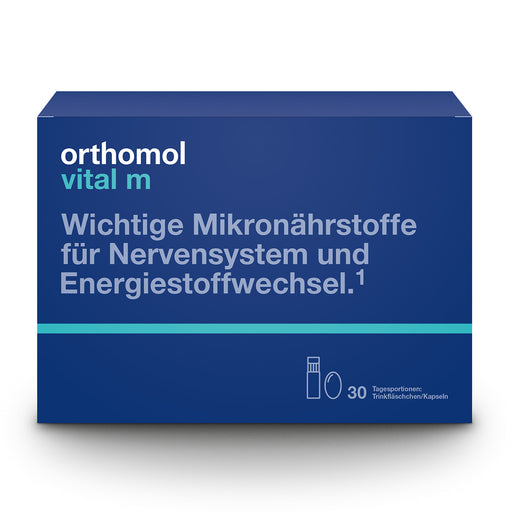 NEW PACKAGING - Orthomol Vital M Ready-to-Drink Vials/Cap - Men Supplement  is a Supplements