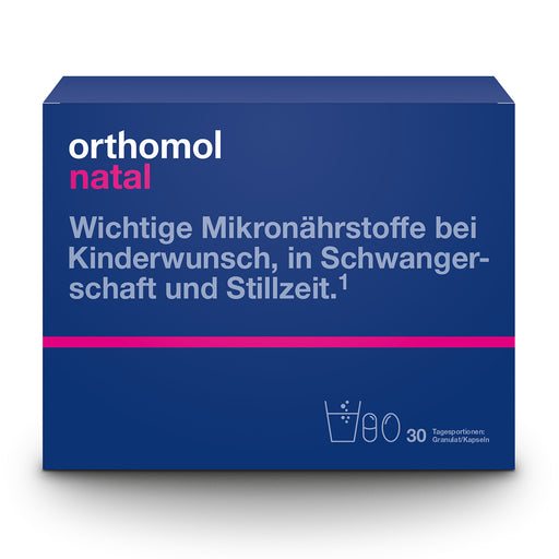 Orthomol Natal Granules & Cap - Pregnancy Supplement 30 days is a nutritional vitamin and mineral supplement for women