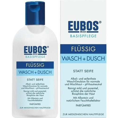 Eubos Liquid Washing Emulsion Blue 200 ml is a Bath & Shower