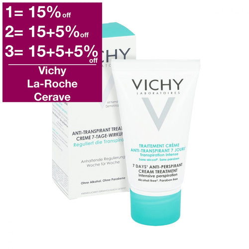 Vichy 7 Days Anti-Perspirant Cream Treatment 30 ml is a Deodorant