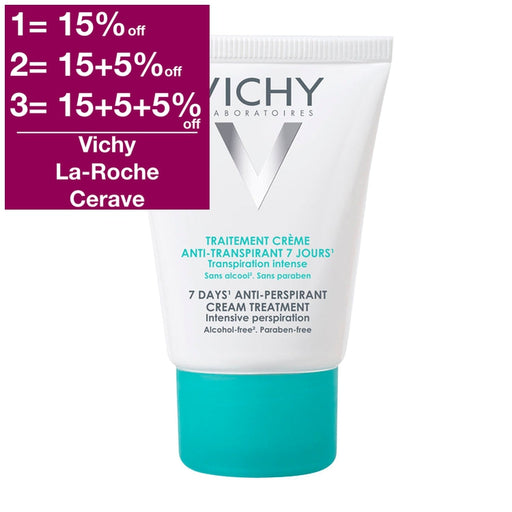 Vichy DEO - 7 Days Anti-Perspirant Cream 30 ml