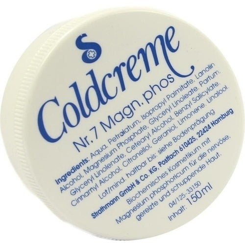 Coldcreme No. 7 Magnesium Phosphoricum (Relaxation) 150 ml is a Body Lotion & Oil