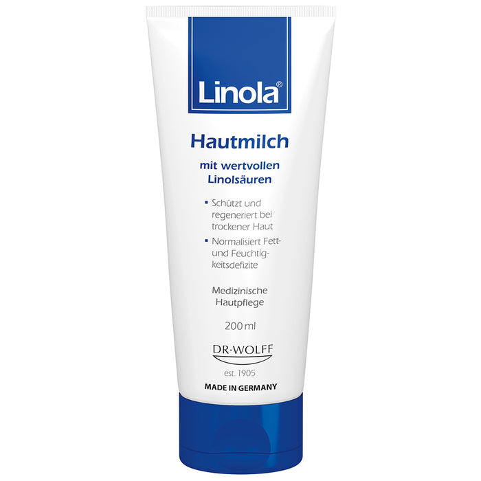 Linola Lotion with Essential Linoleic Acids protects and regenerates dry skin