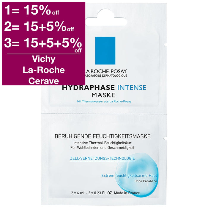 La Roche-Posay Hydraphase Intense Mask (2-application pack) 2x6 ml is a Face Mask