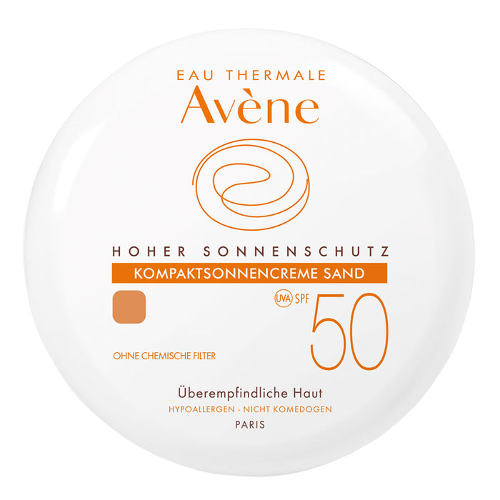 Avene Compact Sunscreen Spf 50 Sand 10 g is a Sunscreen for Face