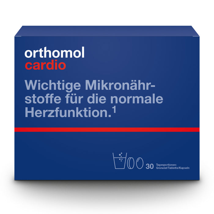 New packaging design - Orthomol Cardio Sachets + Tablet + Capsule - Heart Supplement 30 days