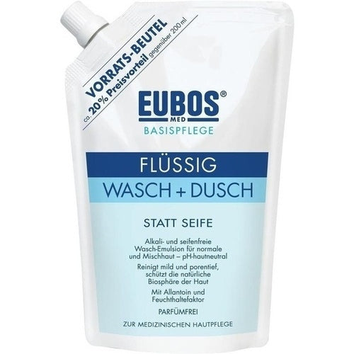 Eubos Liquid Washing Emulsion Blue Refill Pack 400 ml is a Bath & Shower